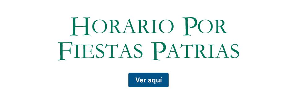Horario Fiestas Patrias - Banesco