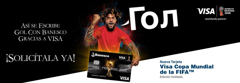 Tarjeta de Crédito Banesco FIFA VISA
